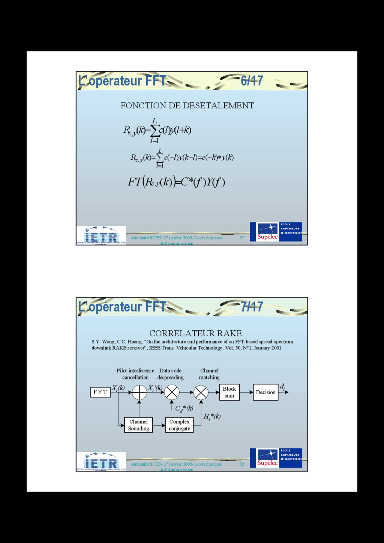 37 séminaire SCEE- 27 janvier 2005- Les techniq...