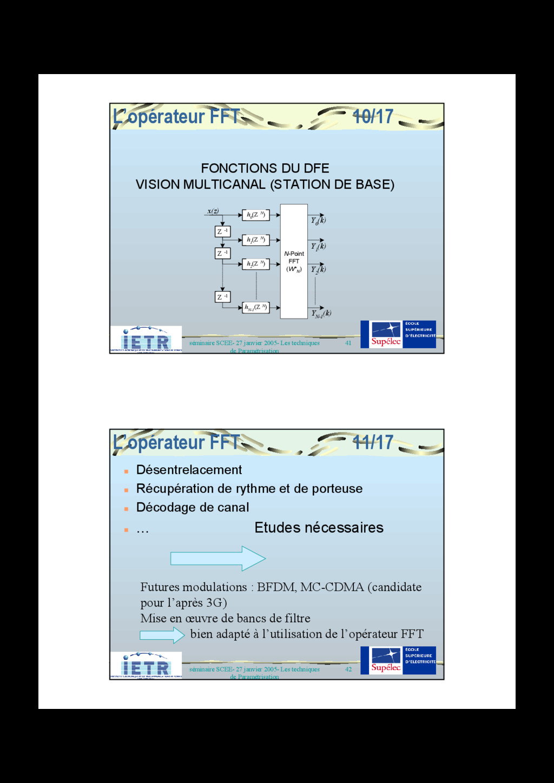 41 séminaire SCEE- 27 janvier 2005- Les techniq...