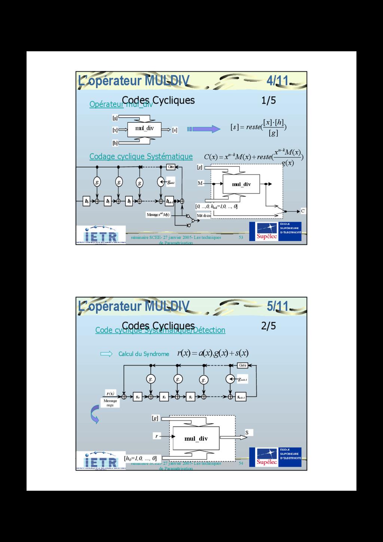 53 séminaire SCEE- 27 janvier 2005- Les techniq...