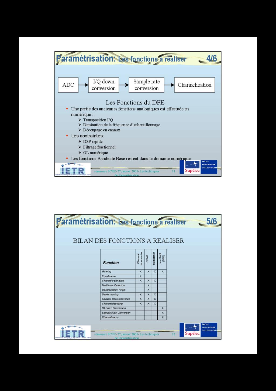 11 séminaire SCEE- 27 janvier 2005- Les techniq...