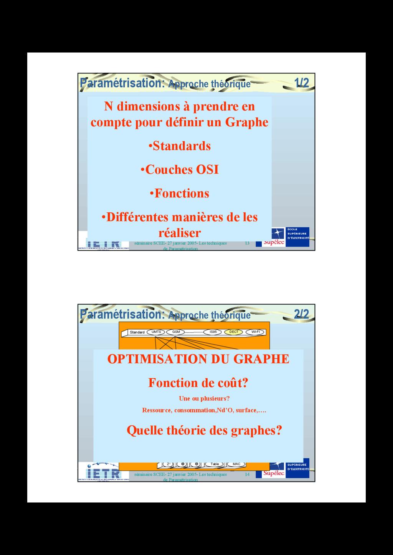 13 séminaire SCEE- 27 janvier 2005- Les techniq...