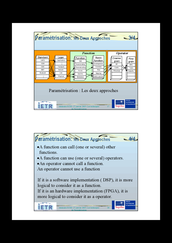 17 séminaire SCEE- 27 janvier 2005- Les techniq...