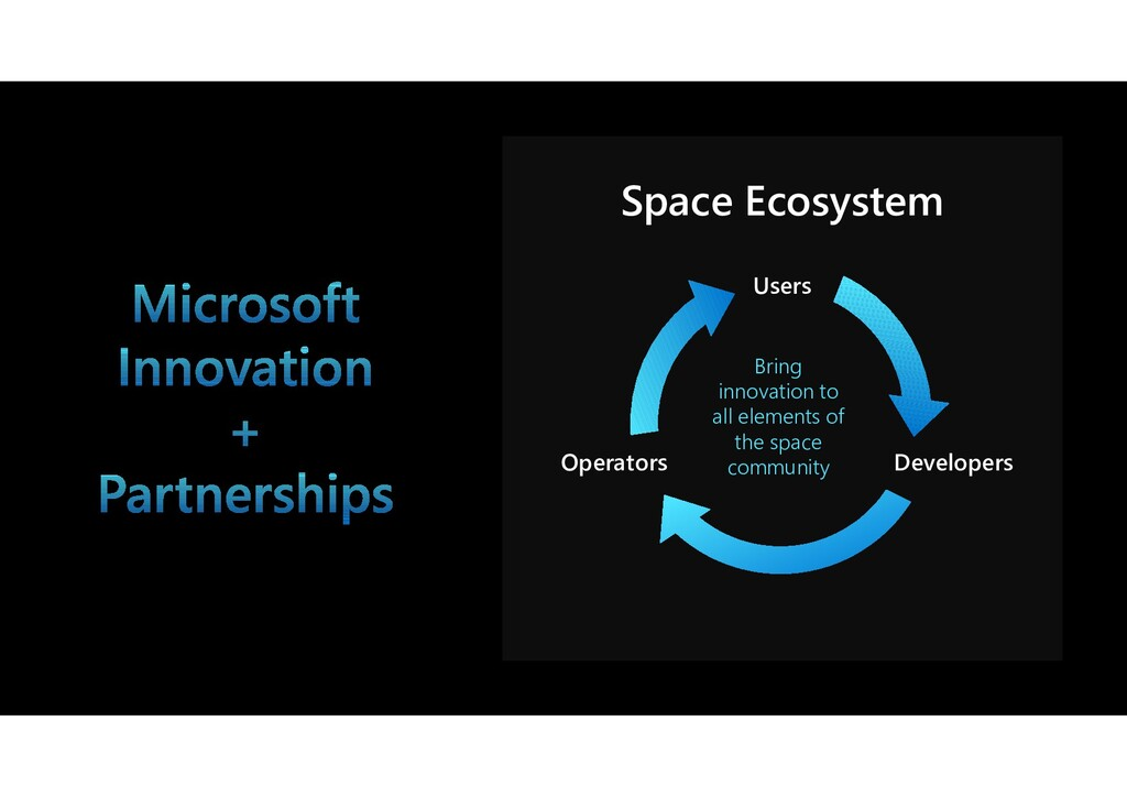 Users Operators Developers Bring innovation to ...