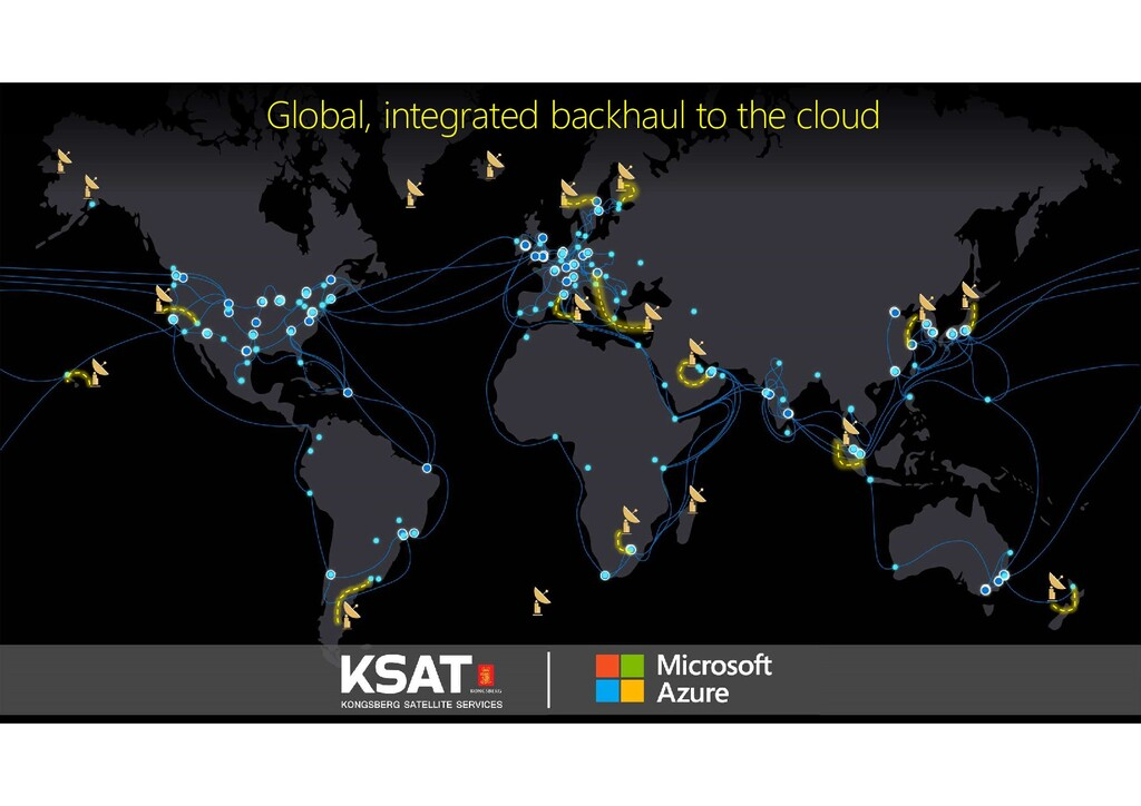 Global, integrated backhaul to the cloud