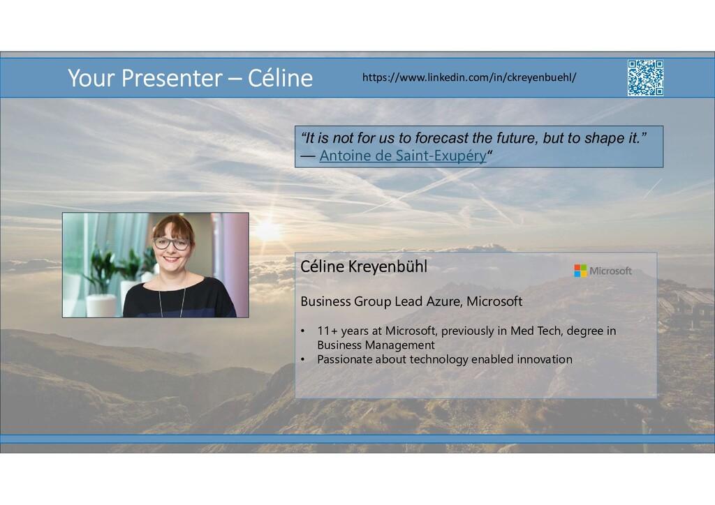 6 Céline Kreyenbühl Business Group Lead Azure, ...