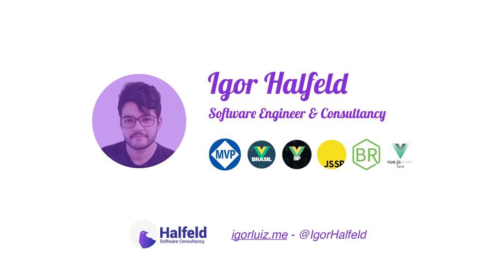 Igor Halfeld Software Engineer & Consultancy ig...