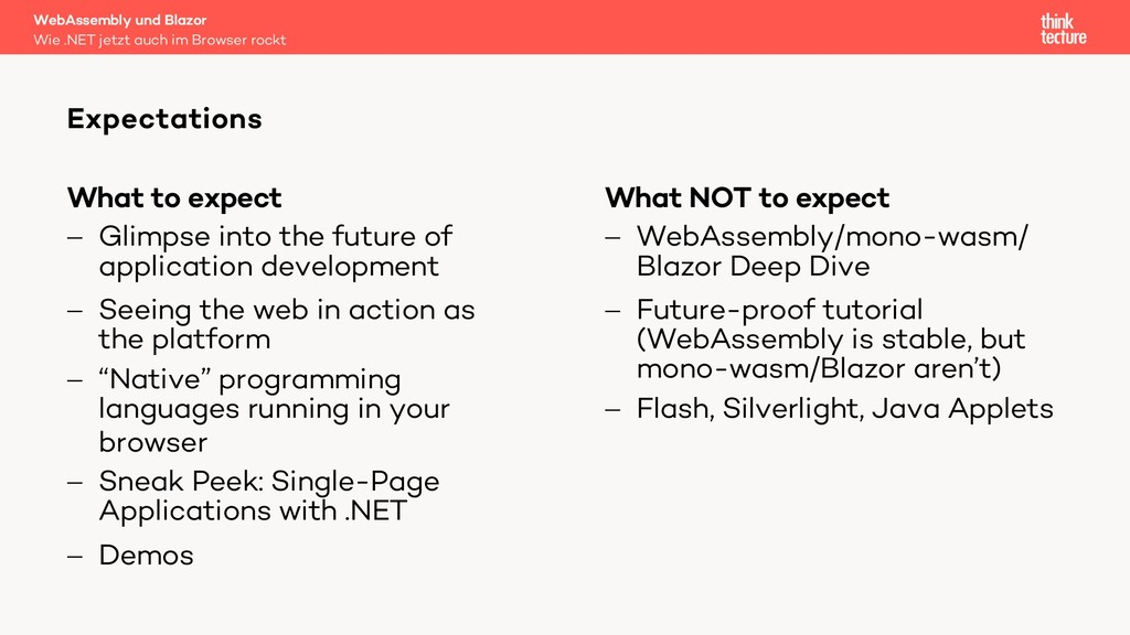 What to expect - Glimpse into the future of app...