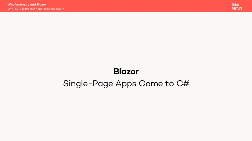 Blazor Single-Page Apps Come to C# WebAssembly ...