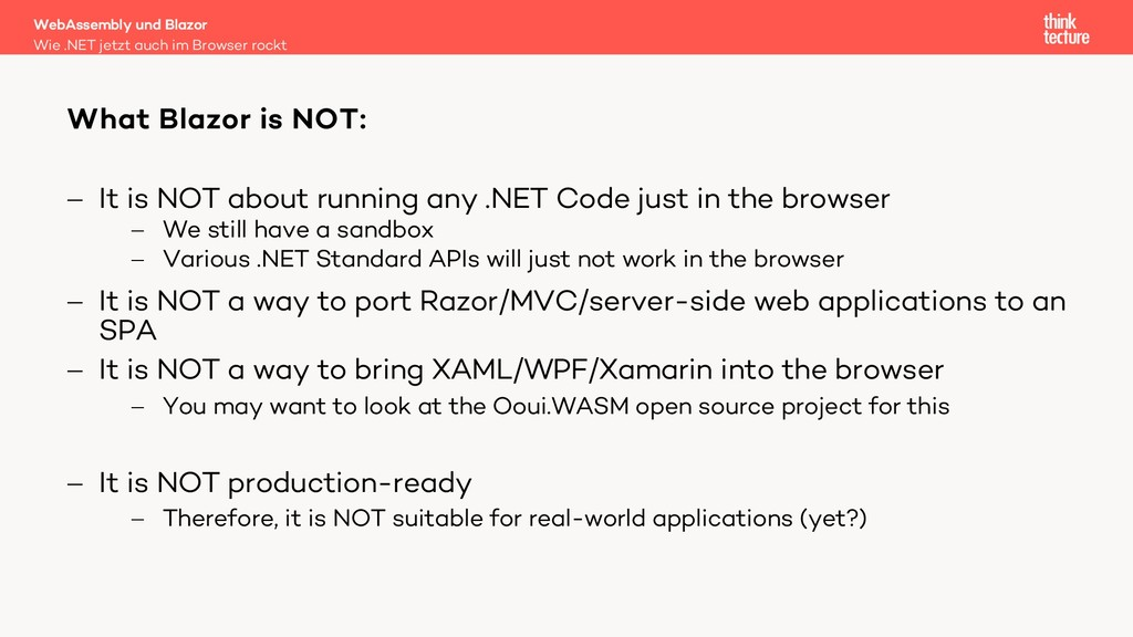 - It is NOT about running any .NET Code just in...