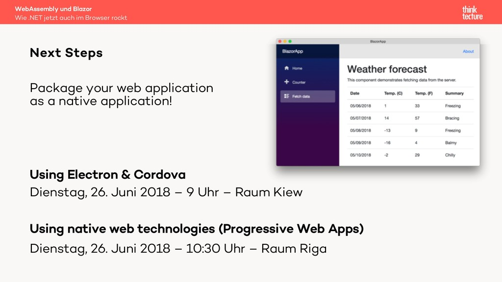 Package your web application as a native applic...