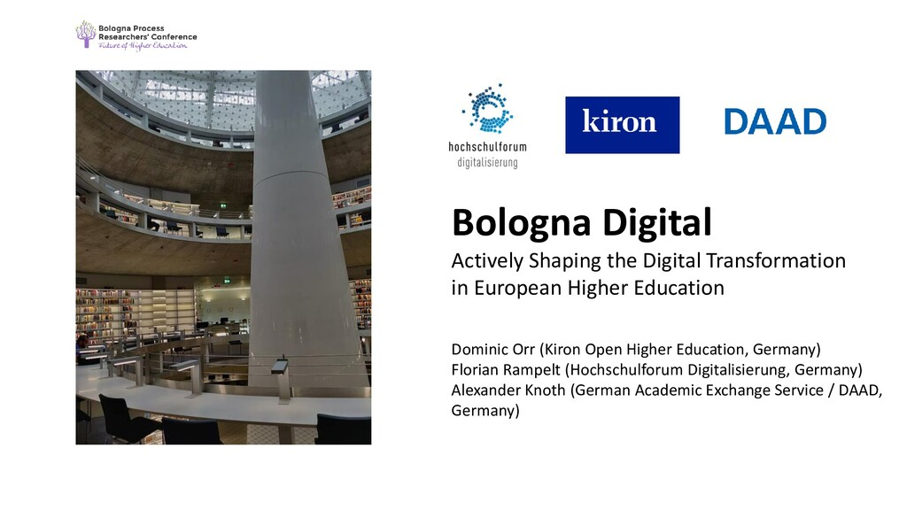 Bologna Digital Actively Shaping the Digital Tr...