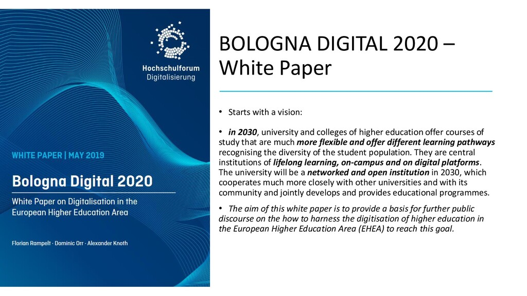 BOLOGNA DIGITAL 2020 – White Paper • Starts wit...
