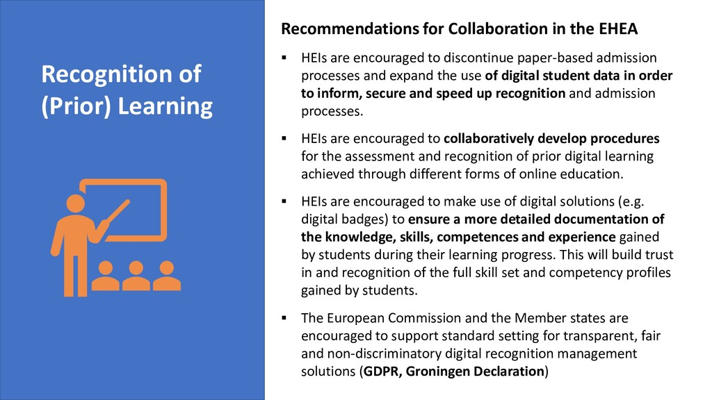 Recommendations for Collaboration in the EHEA ▪...