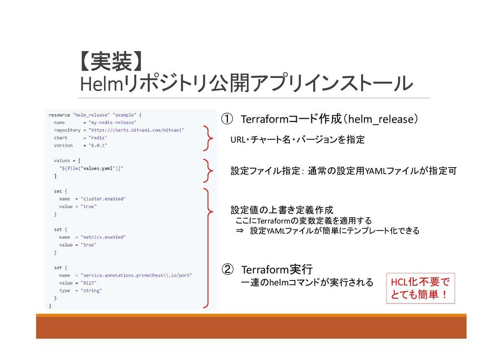 【実装】 Helmリポジトリ公開アプリインストール URL・チャート名・バージョンを指定 設定...