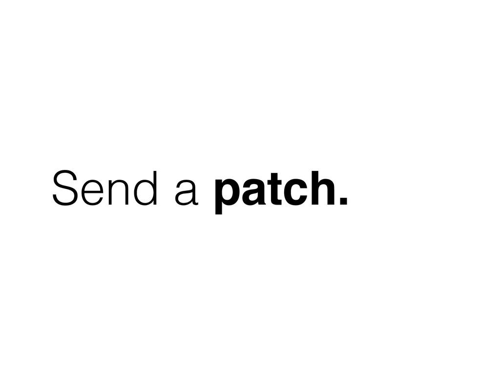 Send a patch.