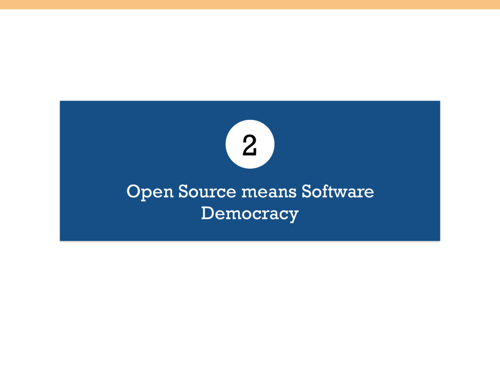 Open Source means Software Democracy 2