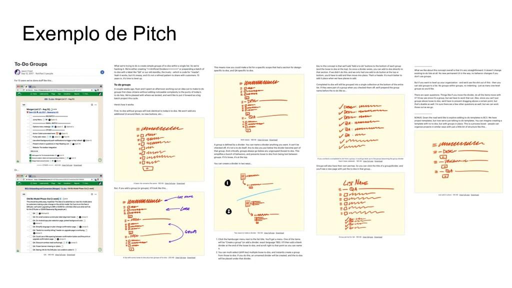 Exemplo de Pitch