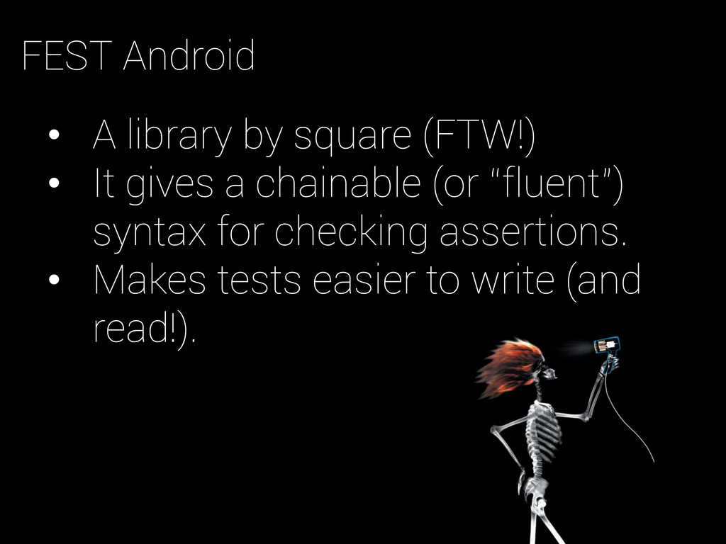 • A library by square (FTW!) • It gives a cha...