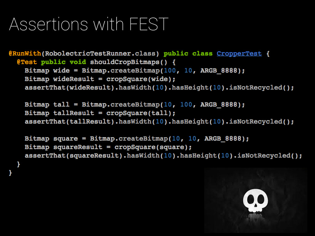 Assertions with FEST