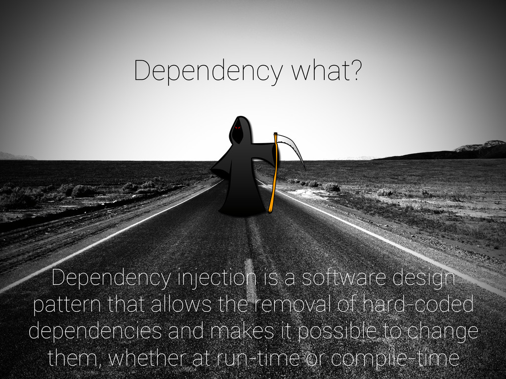 Dependency injection is a software design patte...