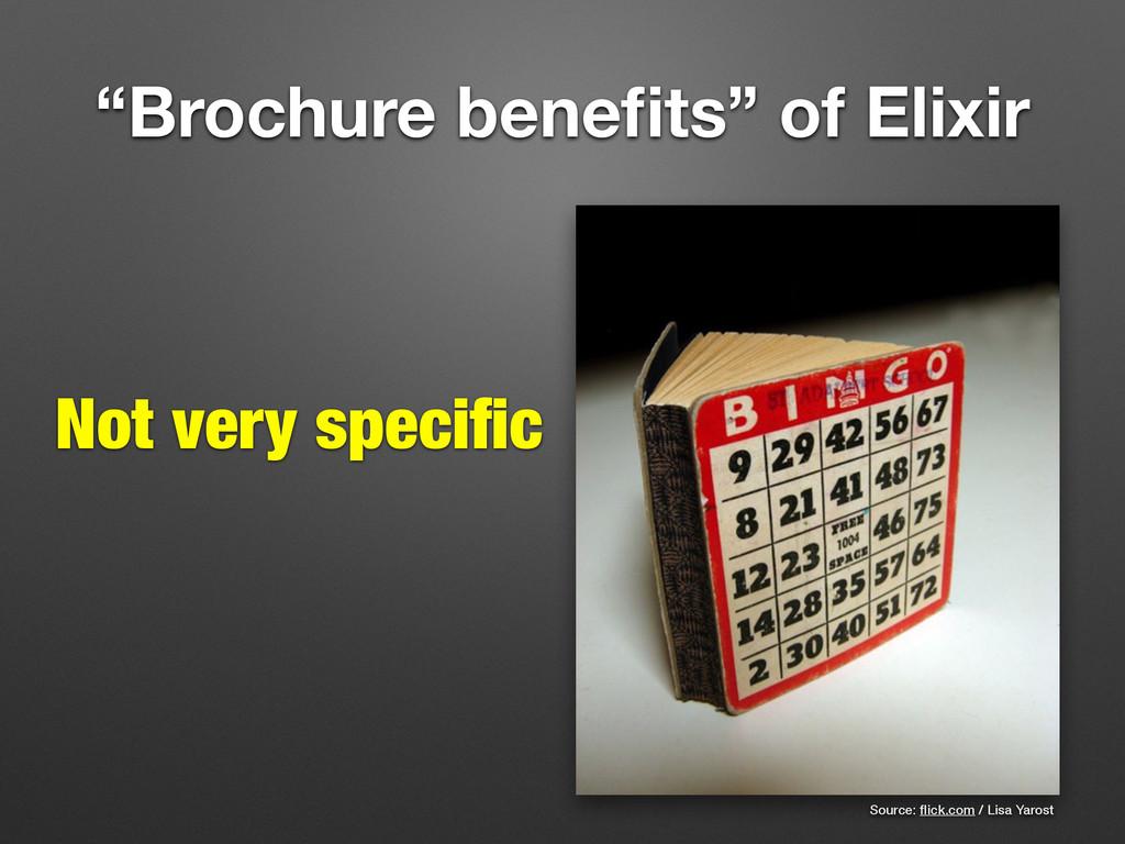 """""""Brochure benefits"""" of Elixir Source: flick.com /..."""
