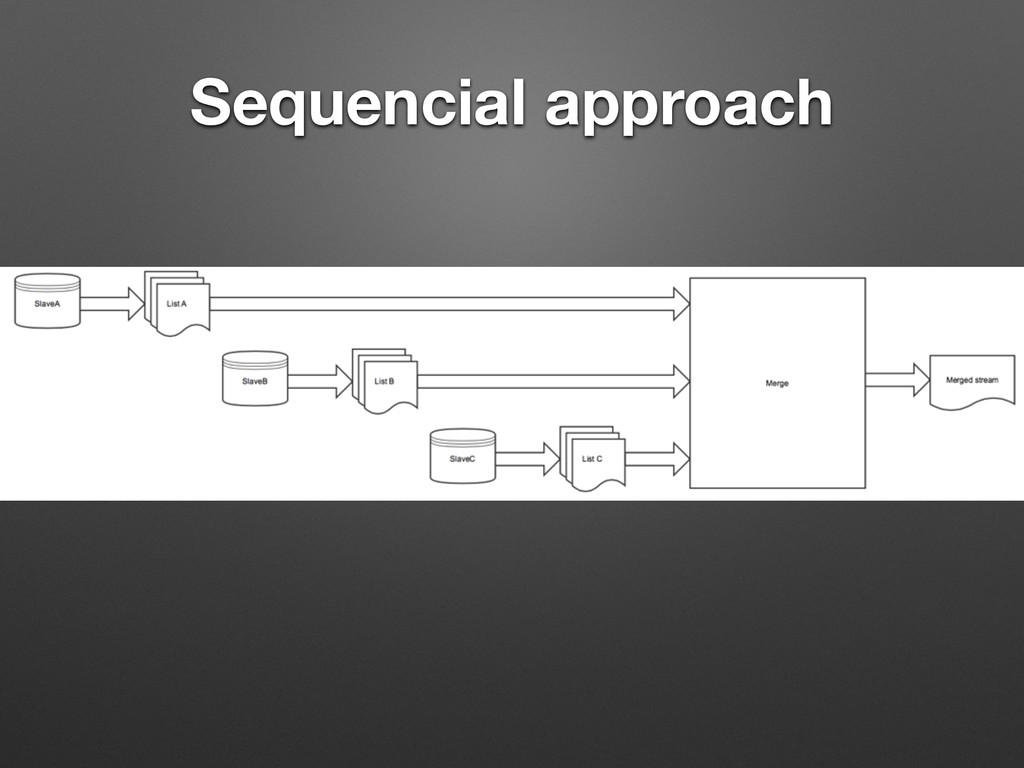 Sequencial approach