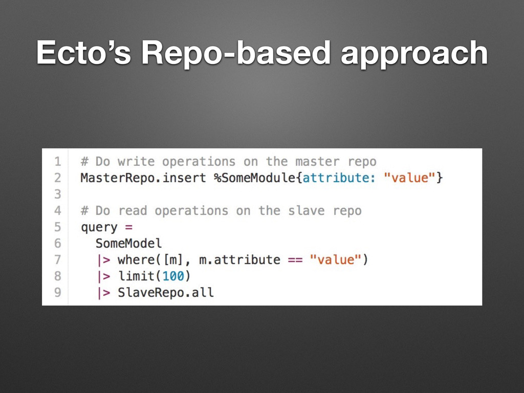 Ecto's Repo-based approach