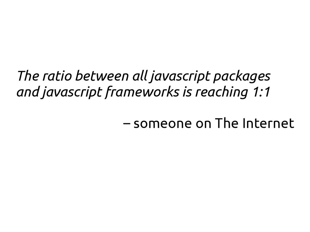 The ratio between all javascript packages and j...