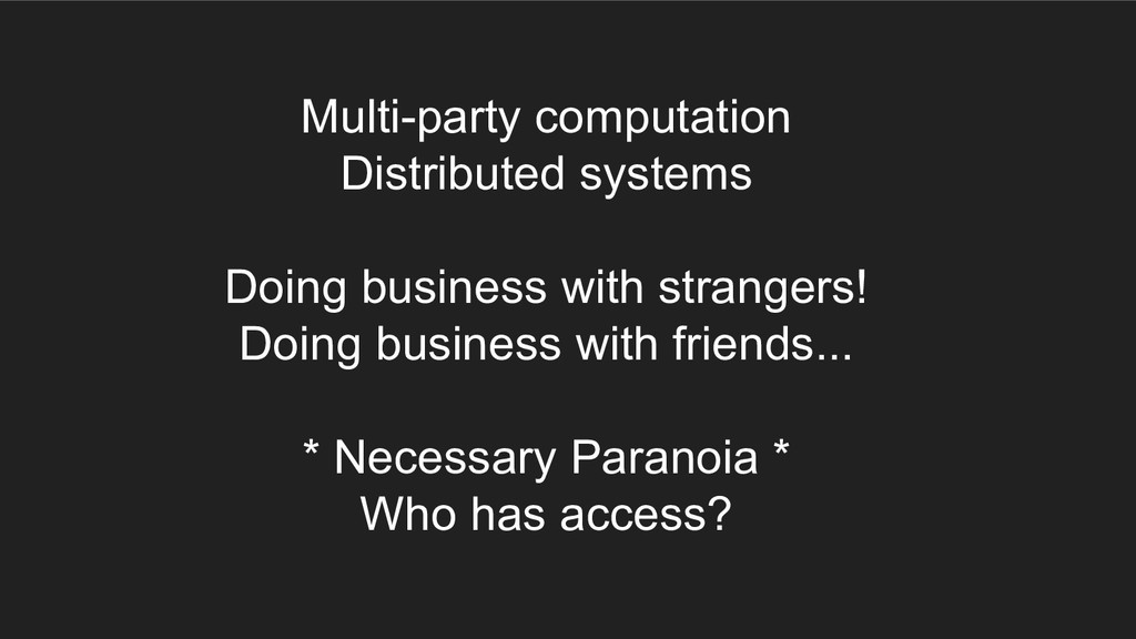 Multi-party computation Distributed systems Doi...