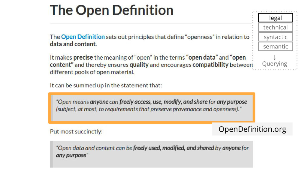 OpenDefinition.org ↓ Querying syntactic semanti...
