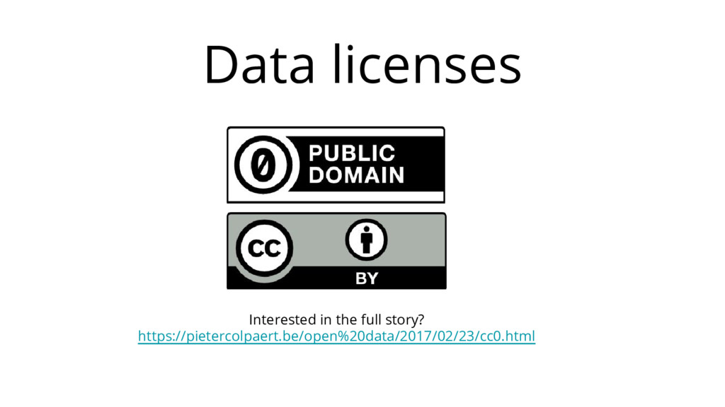 Data licenses Interested in the full story? htt...