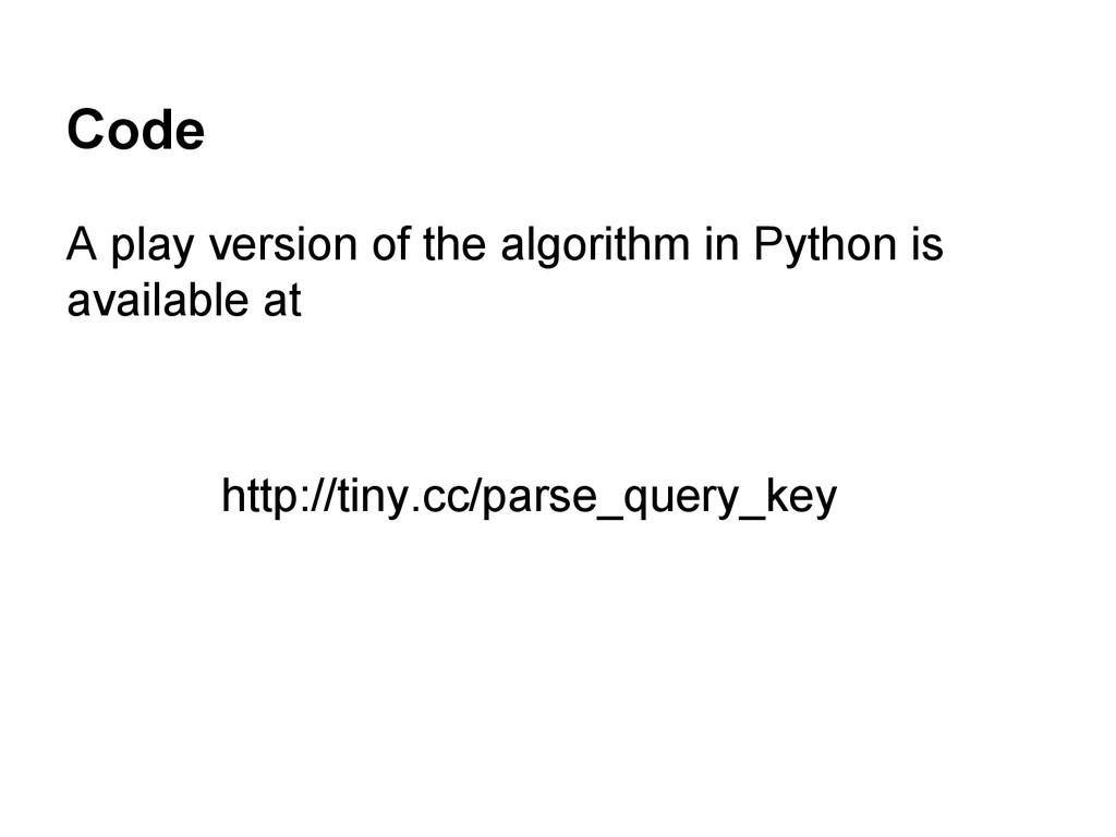 Code A play version of the algorithm in Python ...