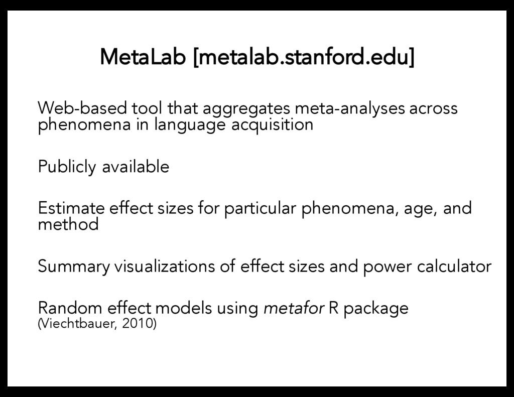 MetaLab [metalab.stanford.edu] Web-based tool t...