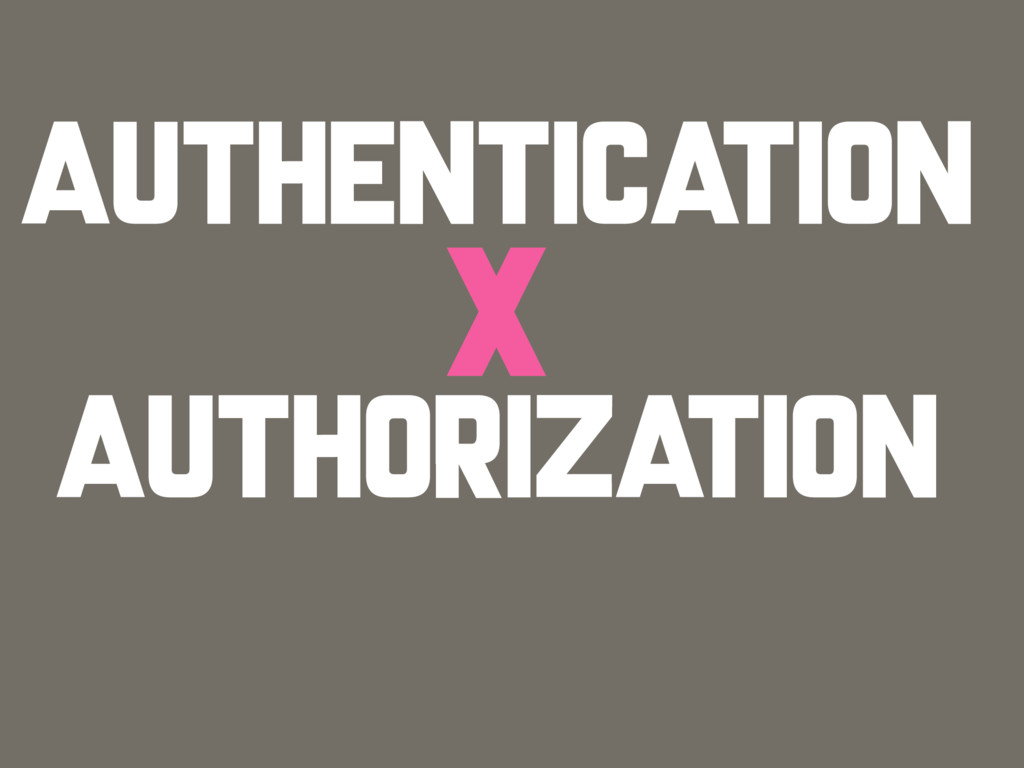 AUTHENTICATION AUTHORIZATION X