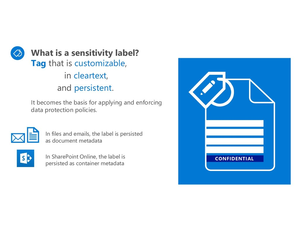 CONFIDENTIAL What is a sensitivity label? Tag t...