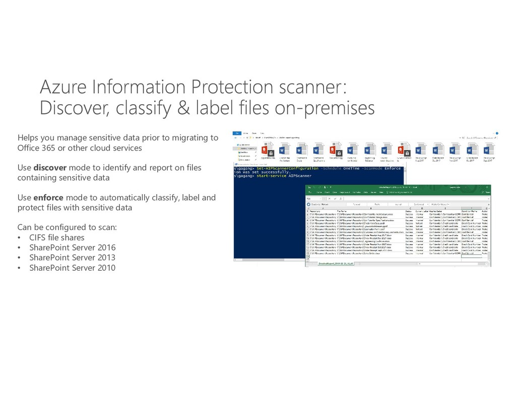 Helps you manage sensitive data prior to migrat...