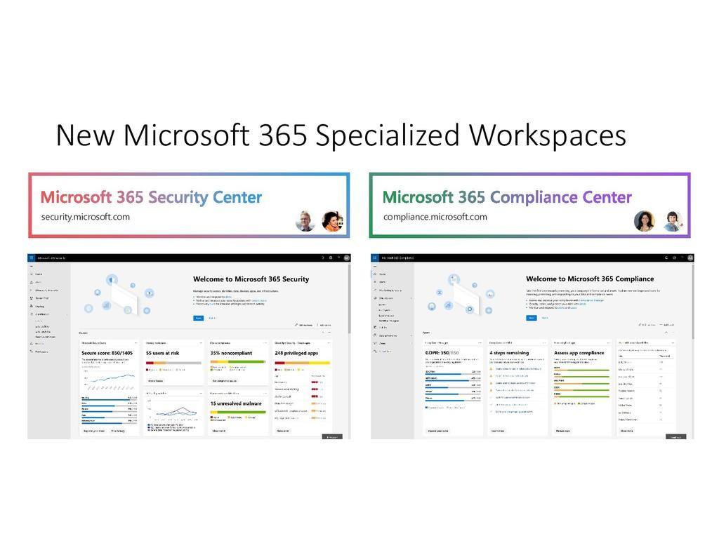 New Microsoft 365 Specialized Workspaces securi...