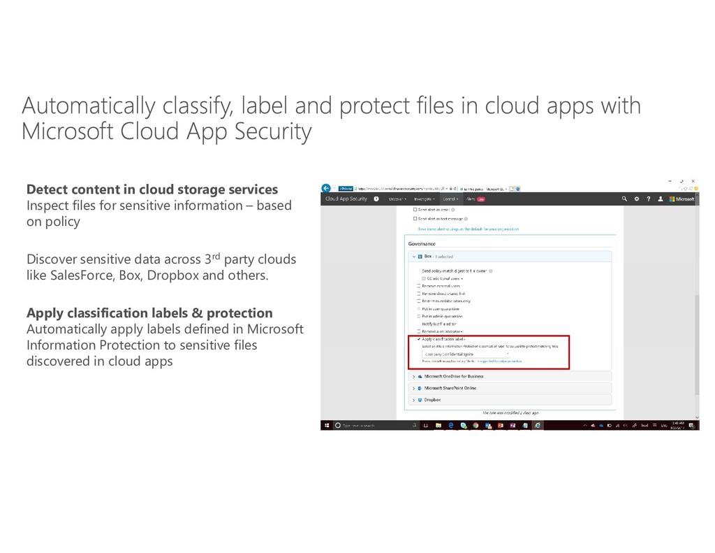 Detect content in cloud storage services Inspec...