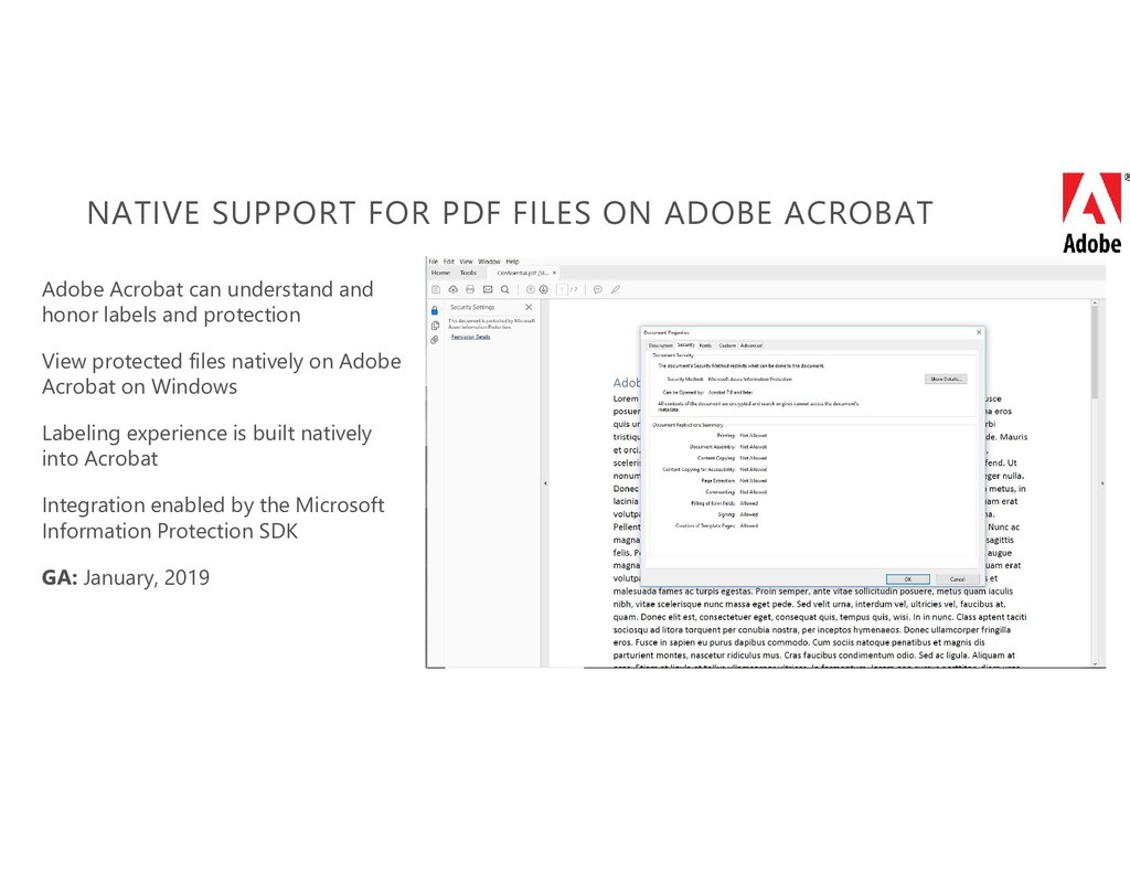NATIVE SUPPORT FOR PDF FILES ON ADOBE ACROBAT A...