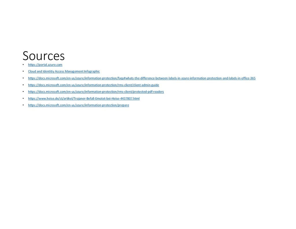 Sources • https://portal.azure.com • Cloud and ...