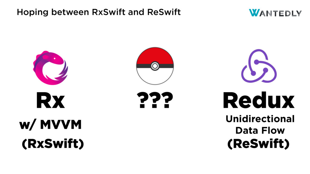 Hoping between RxSwift and ReSwift Redux Rx ???...