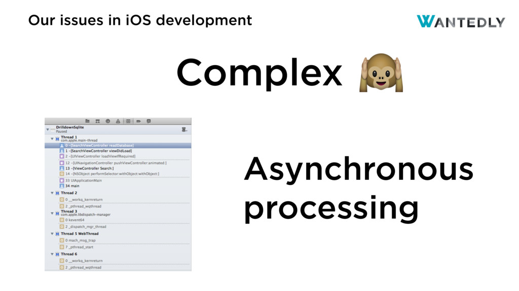 Our issues in iOS development Asynchronous proc...