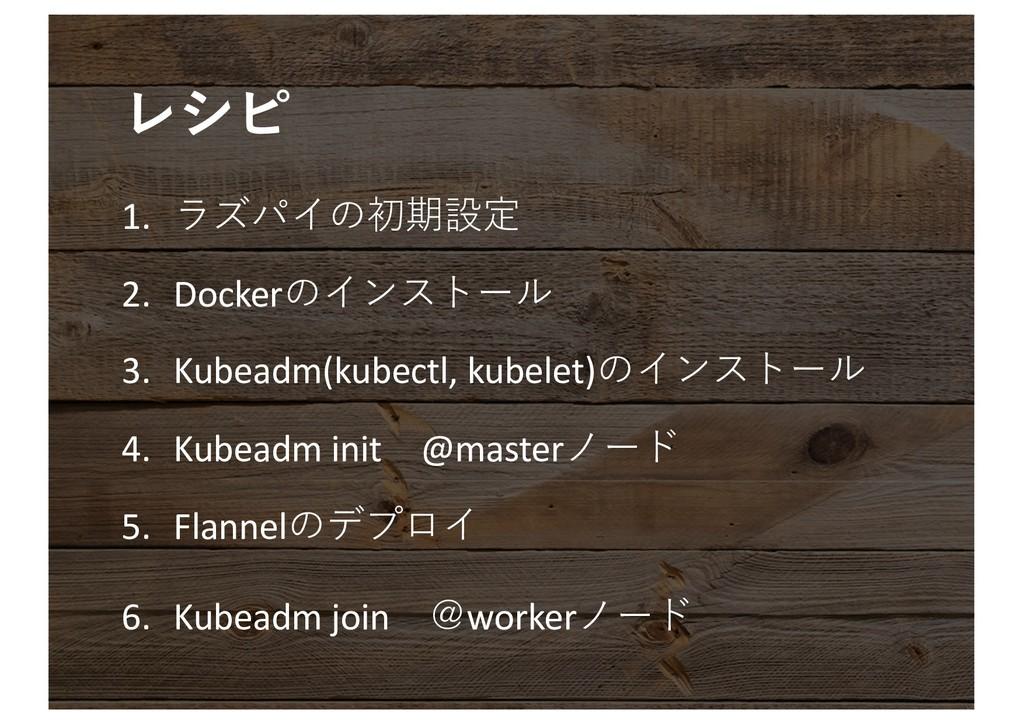 1.  2. Docker 3. Kubeadm(ku...