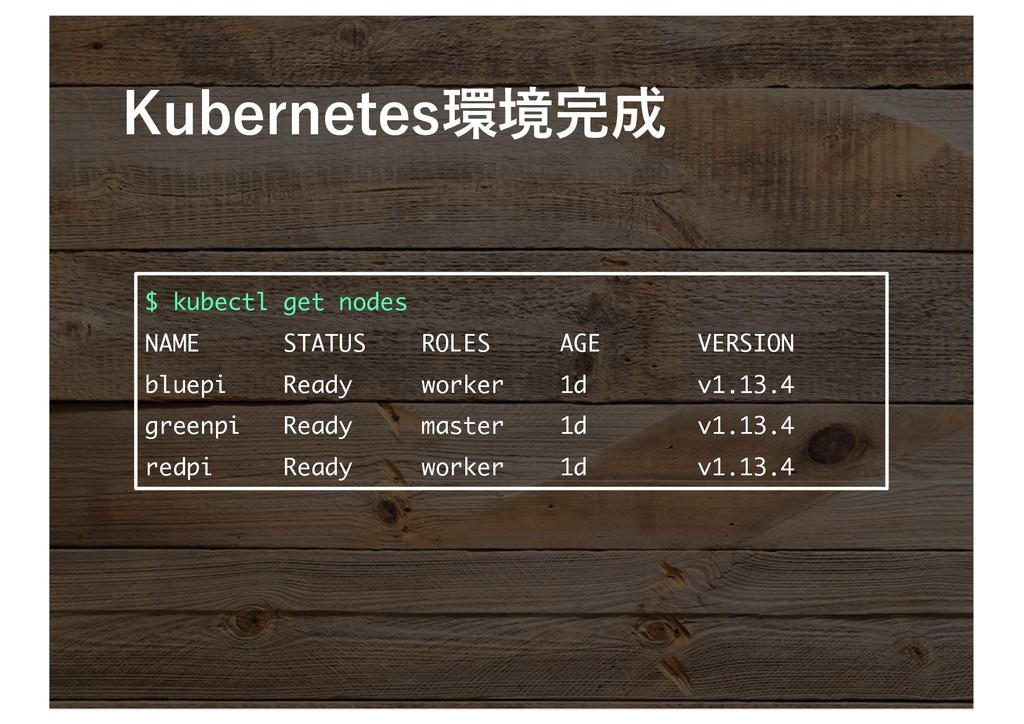 $ kubectl get nodes NAME STATUS ...