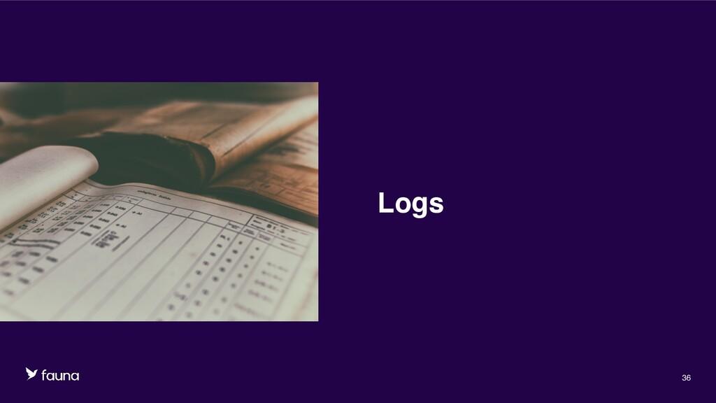 Confidential © Fauna, Inc. 2020 36 Logs