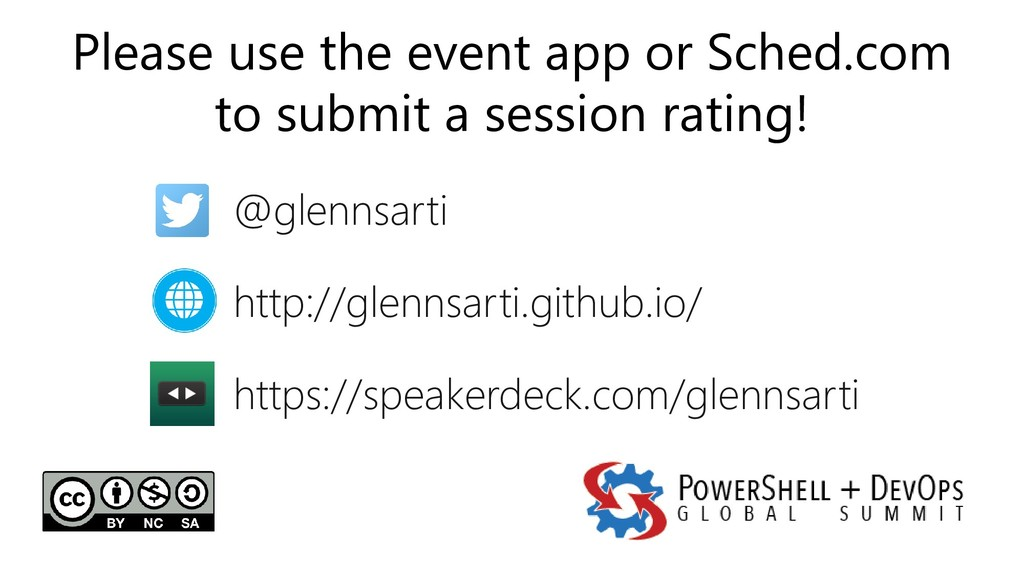 Please use the event app or Sched.com to submit...
