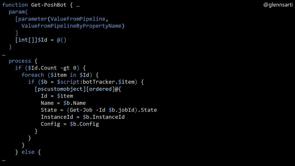 @glennsarti function Get-PoshBot { … param( [pa...