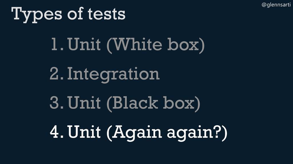 @glennsarti 1.Unit (White box) 2.Integration 3....