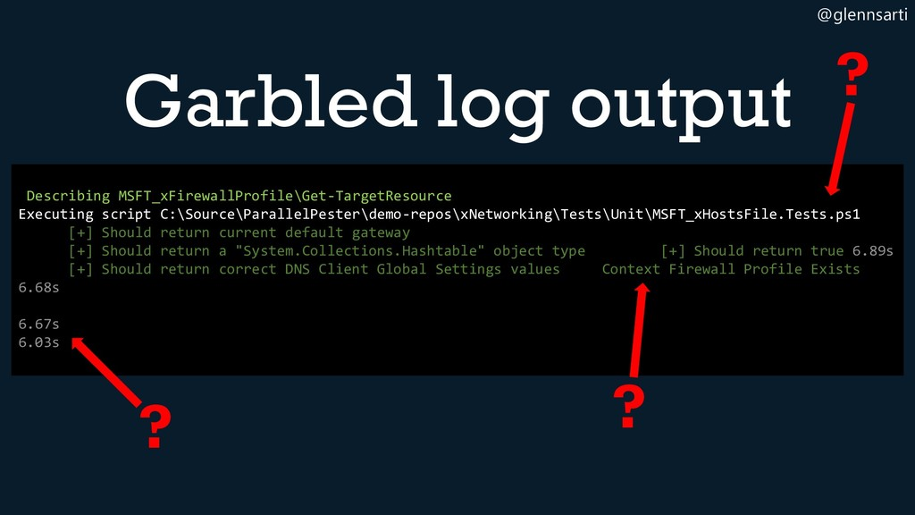 @glennsarti Garbled log output Describing MSFT_...