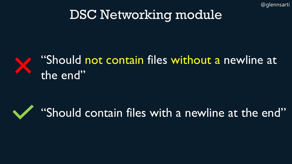"""@glennsarti """"Should not contain files without a..."""